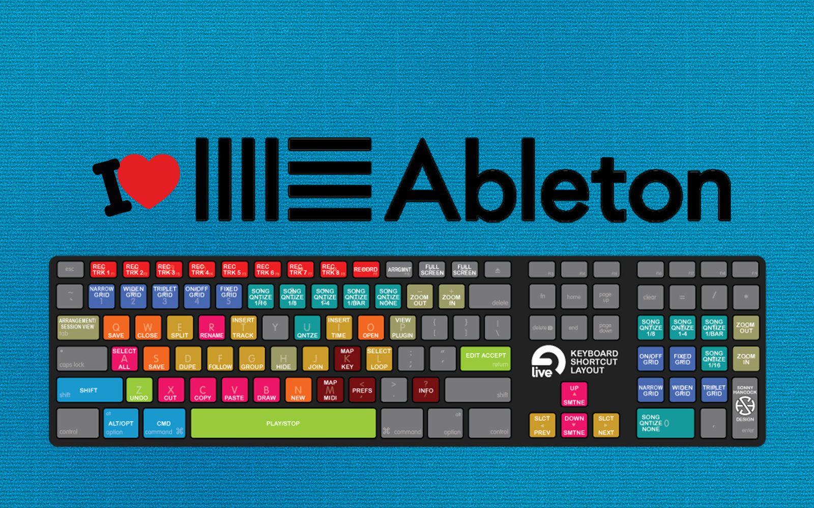 I Love Ableton Shortcut Keyboard Ableton Music Mixing Ableton Live