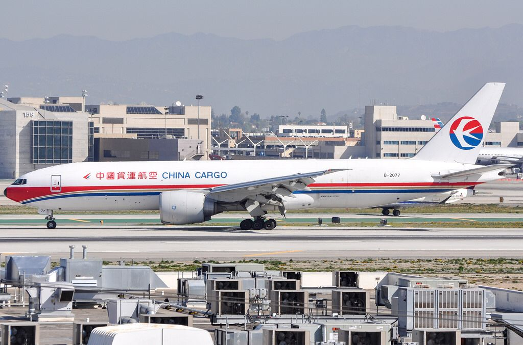 China Cargo Airlines 777F6N arriving at LAX_20140315