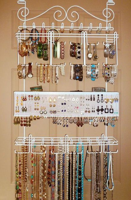 Over the Door SpaceSaving Complete Jewelry Organizer Jewelry