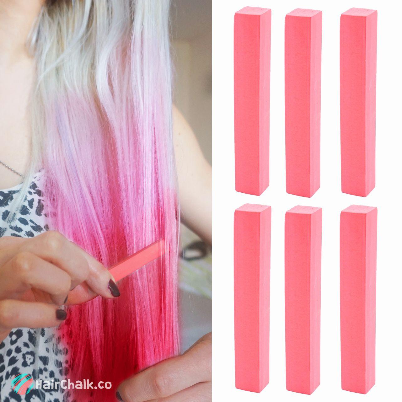 Best Candy Apple Pale Red Hair Dye Raspberry Pink Hair Dye Hairchalk Set Of 6 Pink Hair Dye Hair Chalk Dark Pink Hair