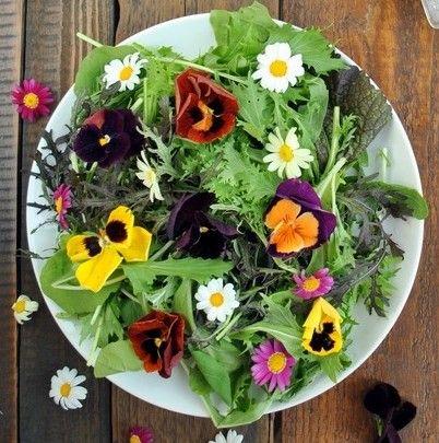 fall flower salad