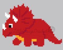 Instant Download Triceratops Dinosaur Baby Blanket Crochet