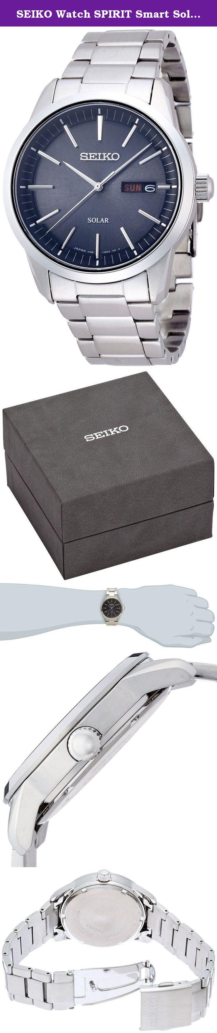 hot sale online 4d12a e6856 SEIKO Watch SPIRIT Smart Solar Sapphire Glass SBPX063 Mens ...
