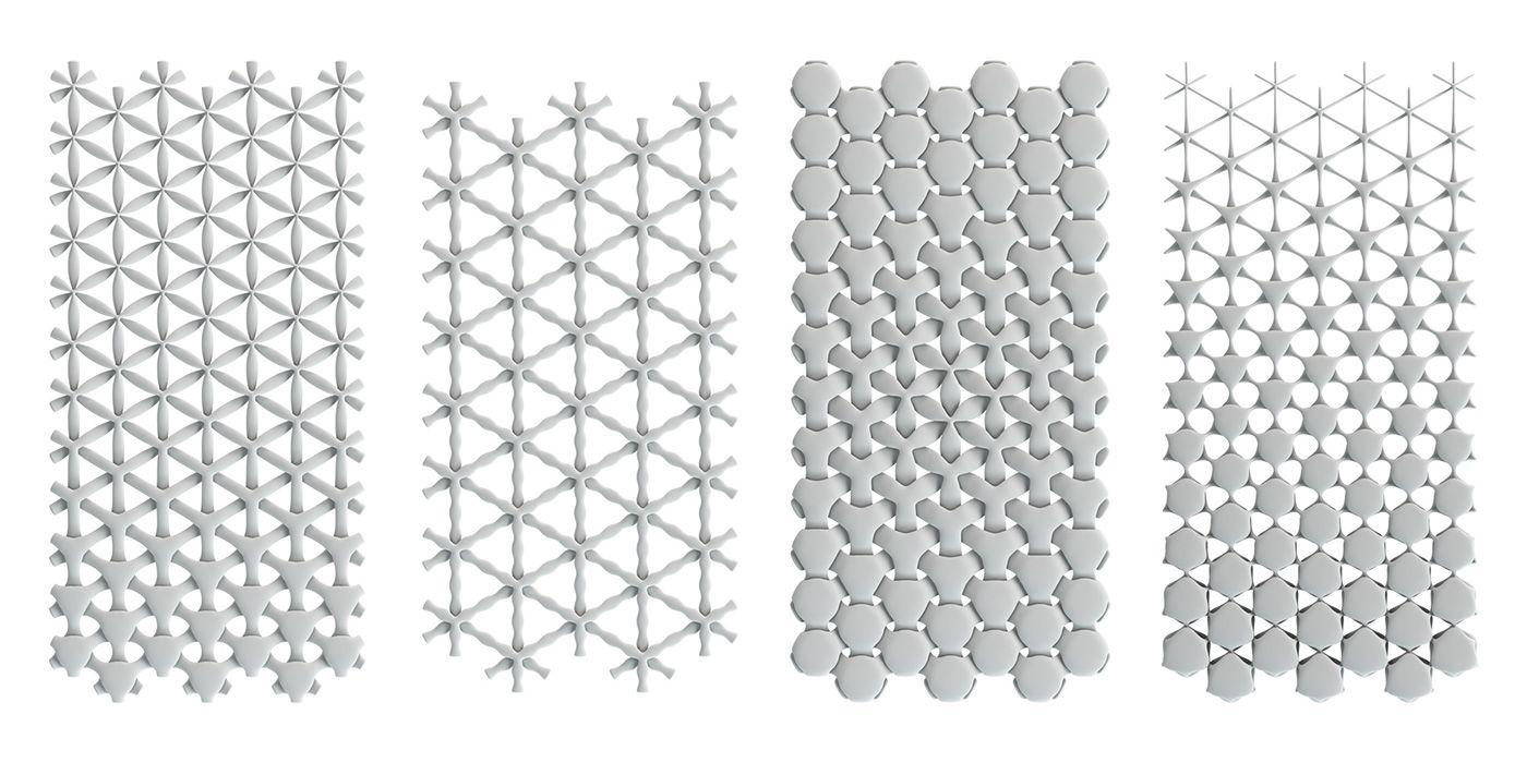 Design Of Interwoven 3d Patterns Using A Parametric Algorithm In