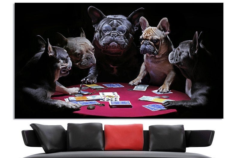Dogs Playing Poker Poker Night Poker Room Decor Poker Gifts Etsy