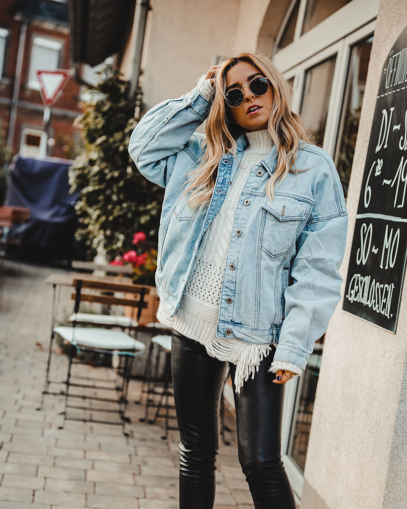 Working Part Time Hardly Working Want Get Repeat Fall Jackets Outfit Denim Jacket Outfit Winter Denim Jacket Outfit Fall [ 1750 x 1400 Pixel ]
