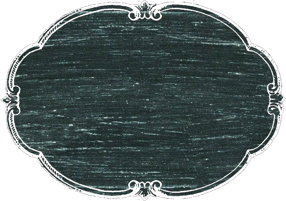 Horizonal oval chalkboard label or tag PNG image clip