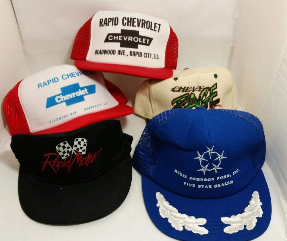 898353798 Lot Of 5 Vintage Snapback Mesh Trucker's Hat Car Chevy Automobile ...
