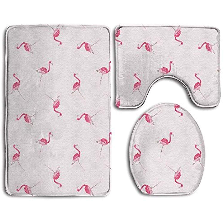 Flamingo Bath Mat Set