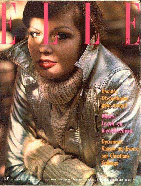 Couverture de Elle n°1506 du 28 octobre 1974 - photo de Jeankoup Sieff