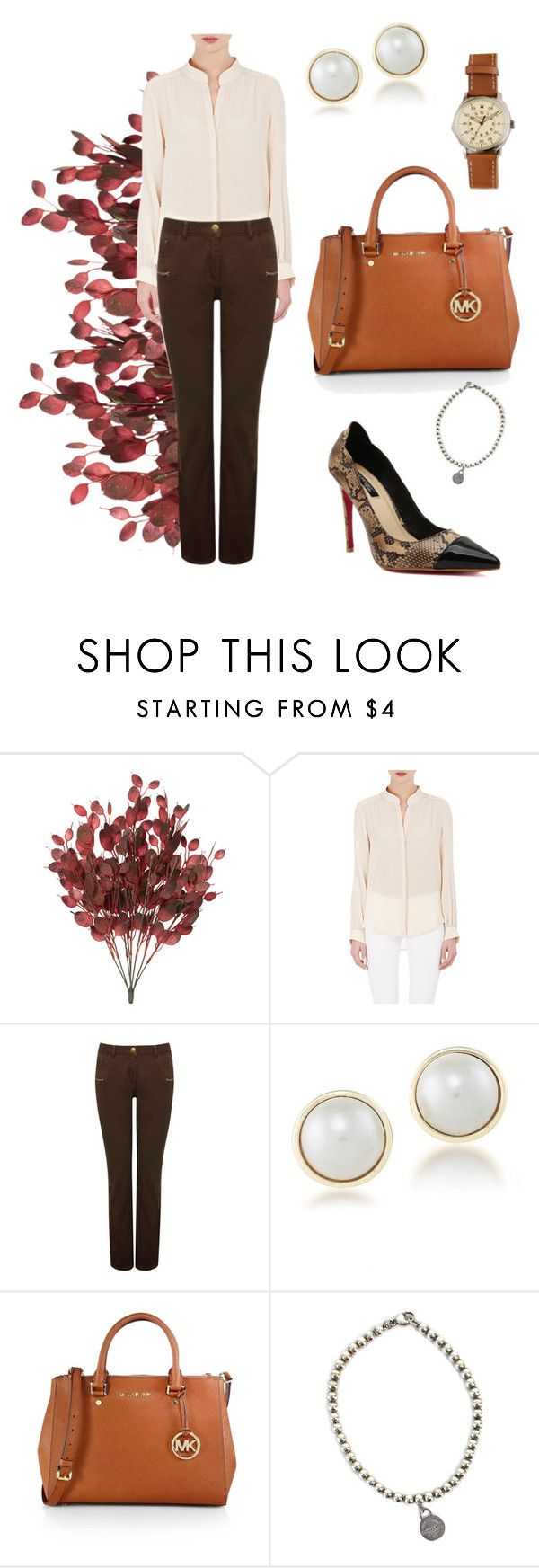 """Marroon elegance"" by marijime on Polyvore featuring moda, L'Agence, M&Co, Carolee, MICHAEL Michael Kors, Tiffany & Co., J.Crew, WorkWear, Spring y outfit"