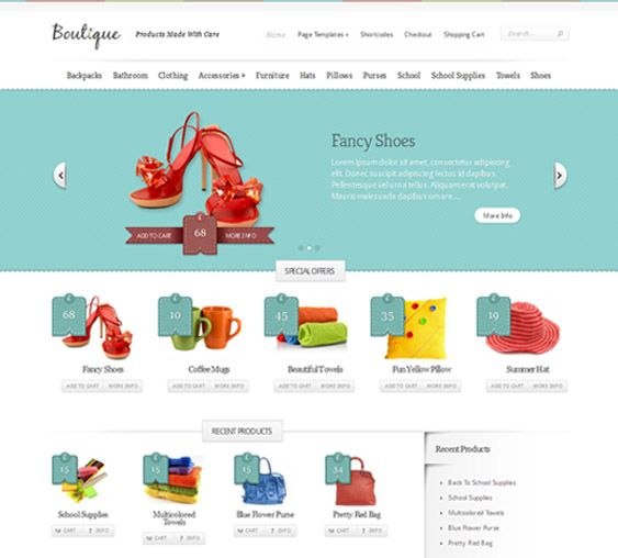 This Ecommerce Wordpress Template Has A Simple Design Unlimited