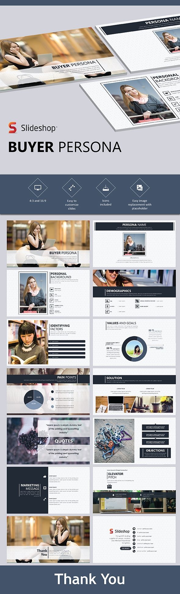 buyer persona | presentation templates, template and creative, Presentation templates