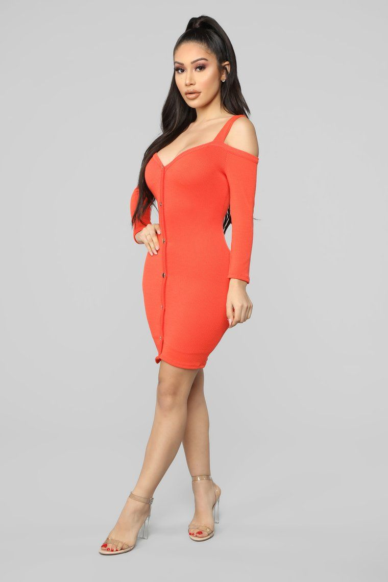 Head In The Clouds Sweater Dress Tomato Red Dresses