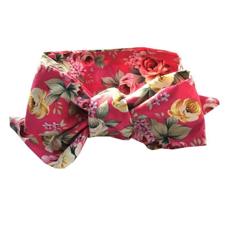 Hot Selling Baby Girls  Cotton Big Bowknot Floral Printed Rabbit Ear Vintage Headbands #babygirlhairstyles