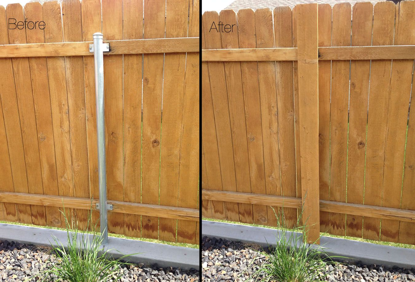 Got Ugly Metal Fence Posts Diy Garden Project Cure Diy