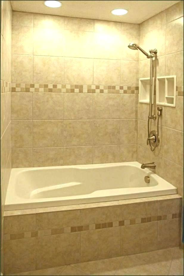 Soaker Tubs For Small Bathrooms Tub Shower Combo Bathroom Ideas Combination Bathtub In 2020 Patterned Bathroom Tiles Bathroom Tile Designs Bathroom Tub Shower Combo