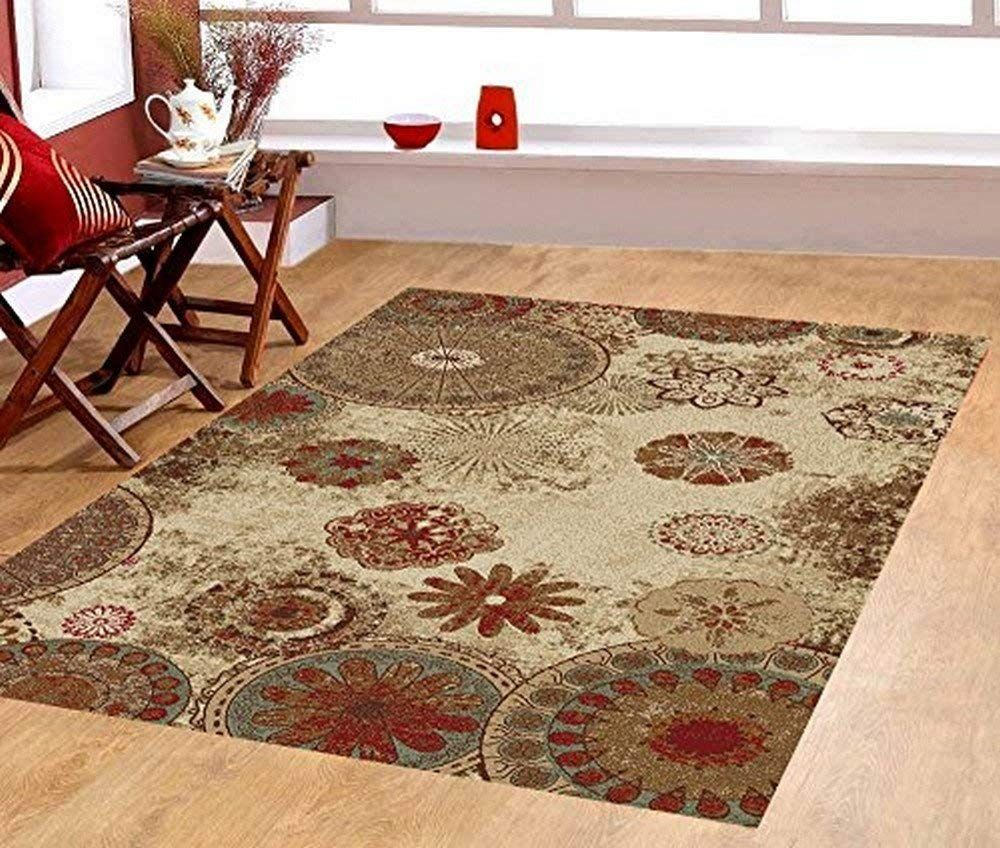 Furnish My Place Fl Abstract Area Rug Light