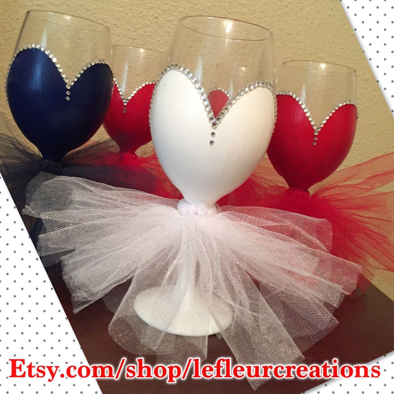 Bridesmaid Wine Glasses With Tutu Bridesmaid Wine Glasses Glitter Wine Glass Bridesmaid Wine
