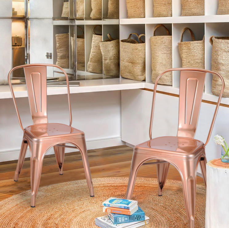 Tolix Style Metal Chairs Are A Great Addition To Modern Home Decor Or  Restaurant Furniture. They Can Be Used As Cafe Chairs, Bistro Chairs, Bar  Chairs, ...