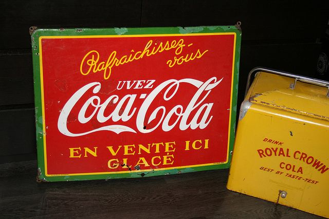 Coca cola porcelain sign 1937 by fifties50s, via Flickr