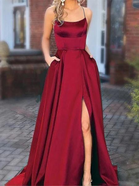 Satin Evening Dresses Prom Dresses Wedding Party Dresses LPD884