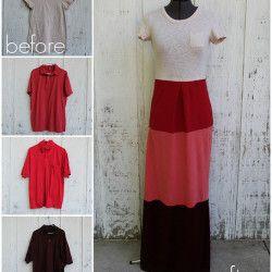 Colorblock T-shirt Dress - DIY