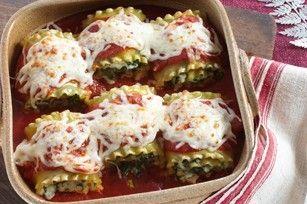 Spinich Lasagna Rolls! Mmmmmm