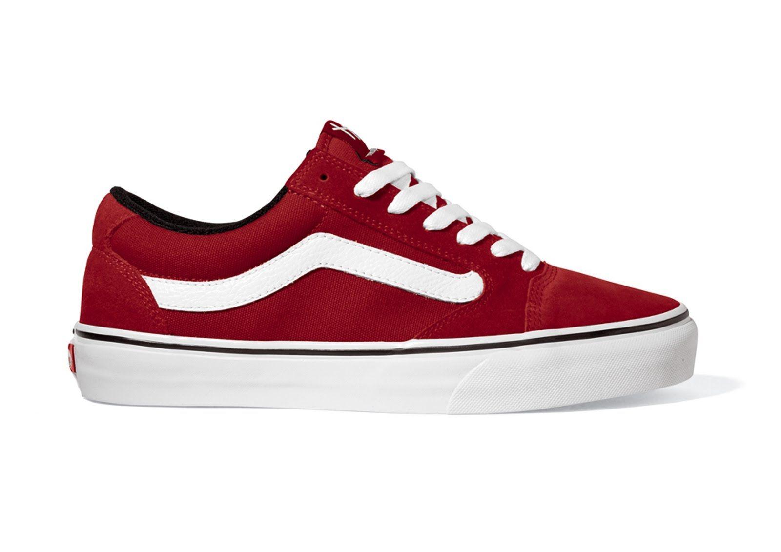 botas vans rojas