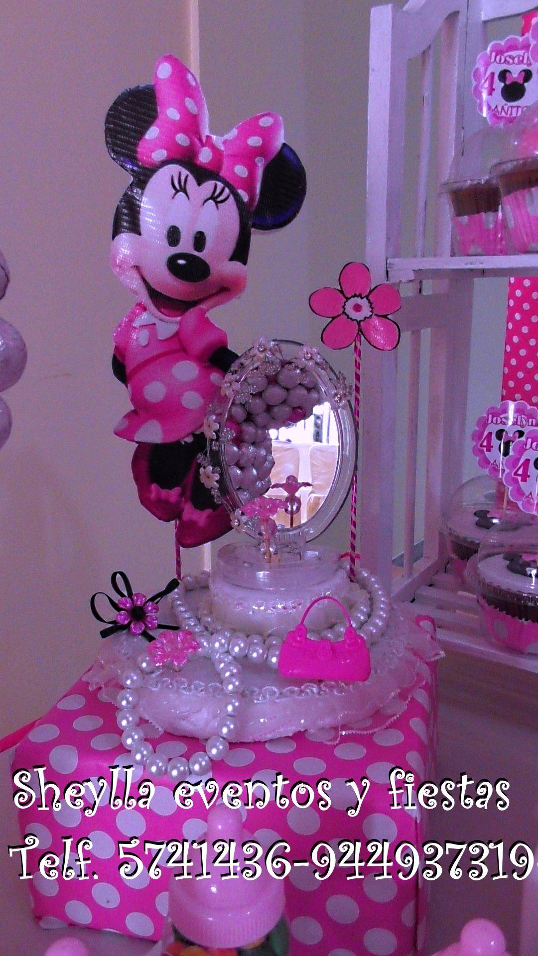 Minnie centro de mesa fiesta infantil cumplea os - Decoracion de mesa de cumpleanos infantil ...
