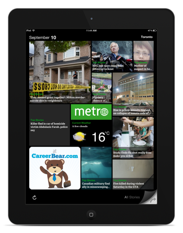 Metro News iOS & Android App by Anna Karatcheva, via