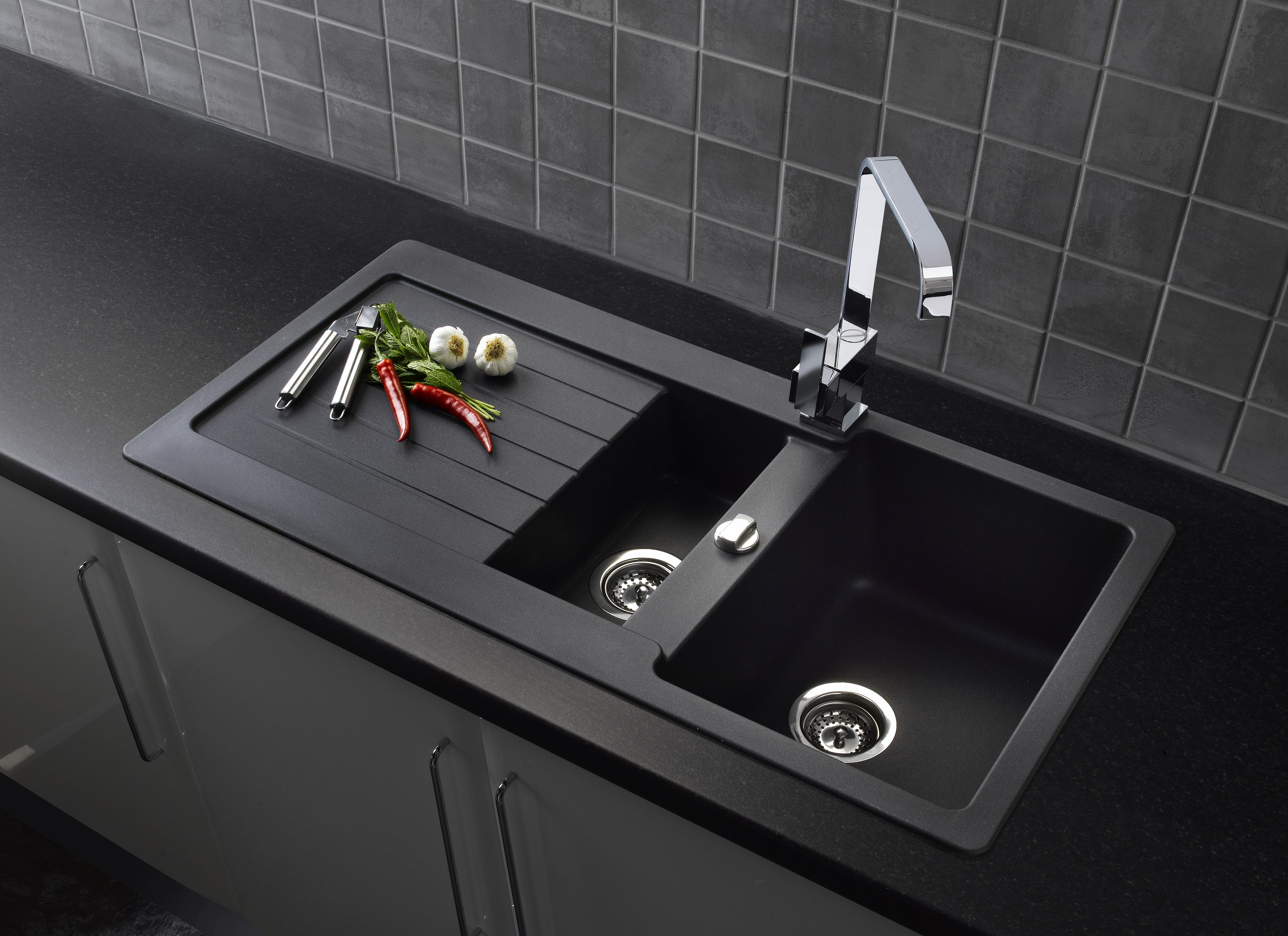 Ultra modern kitchen sink, complimenting a range of
