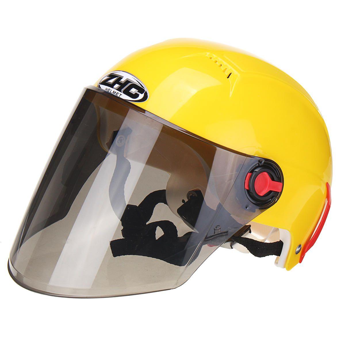 Motorcycle Half Face Helmet Cycling Outdoor Sports Ultraviolet Proof Helmets In 2020 Helmet Outdoor Sports Ultra Violet