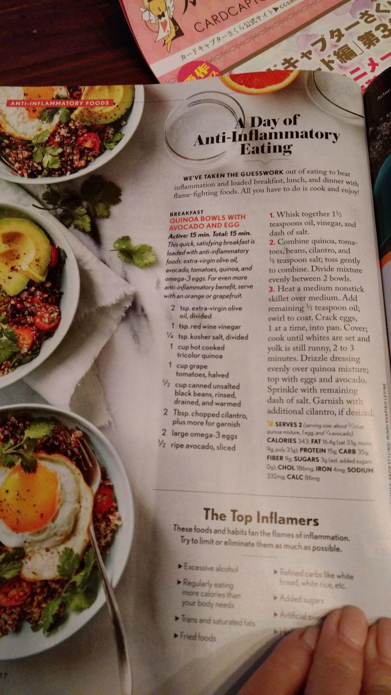 Cooking Light Anti Inflammatory Diet