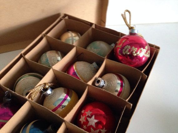 Poland Christmas Ornaments Antique Glass by 4EnvisioningVintage, $29.00