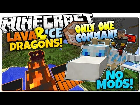 Minecraft Lava Ice Dragon Pets No Mods Only One Command Minecraft Vanilla Mod Ice Dragon Pet Dragon Minecraft Commands