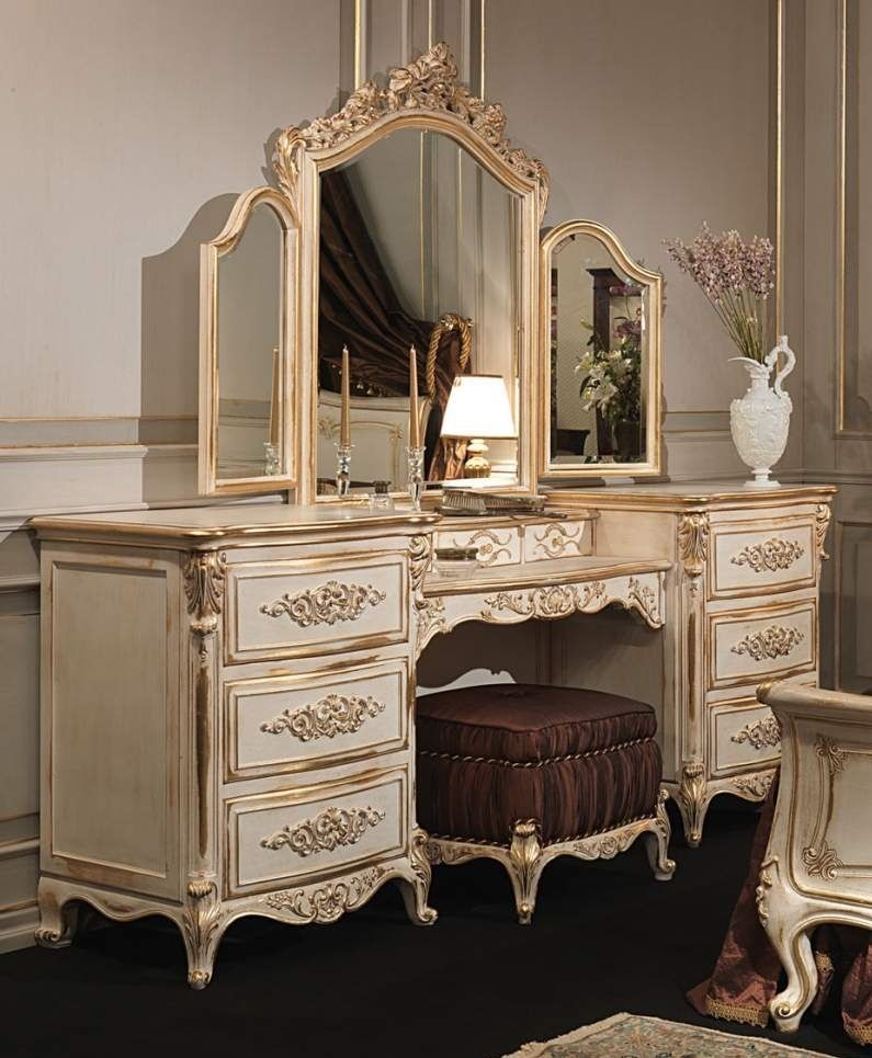 Classic Louis Xvi Bed Set White Gold French Furniture Bedroom