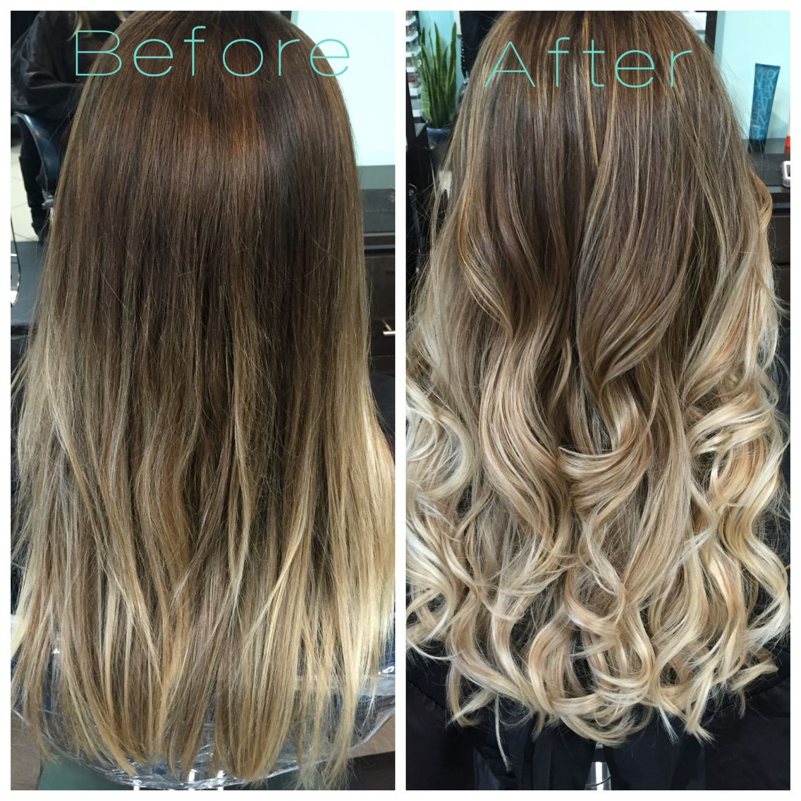 Before And After Brightened Up This 6 Month Old Ombr Olaplex