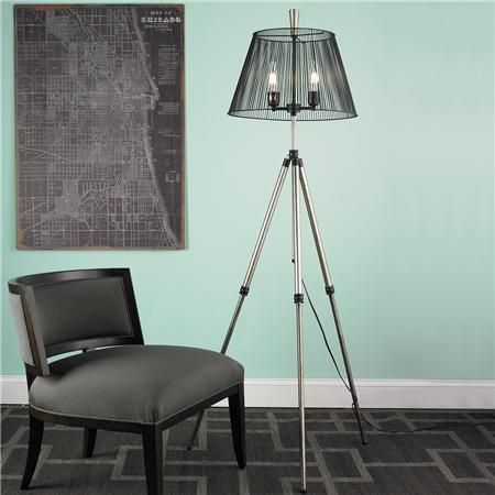 Tripod base with wire shade floor lamp modish floor lamps tripod base with wire shade floor lamp keyboard keysfo Image collections