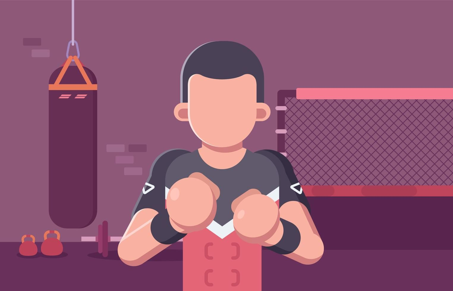 Ultimate Fighting Fighter In Training Facility Fighter Vector Art Art Images