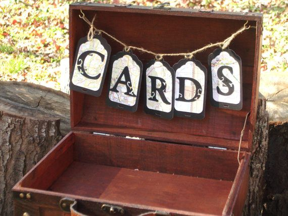 Wedding Card Box  Vintage Travel  Collection by IttyBittyWedding, $68.00