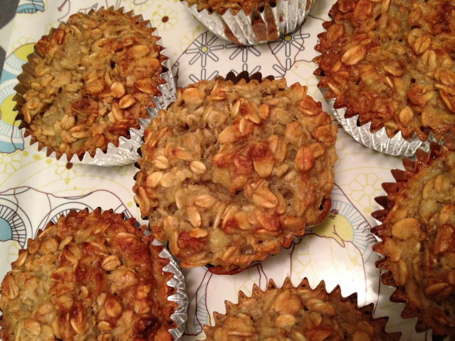 gluten free banana muffins with oats