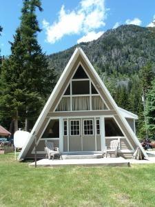A Frame Style House Near Wallowa Lake Or Triangle House A Frame Cabin A Frame House Plans