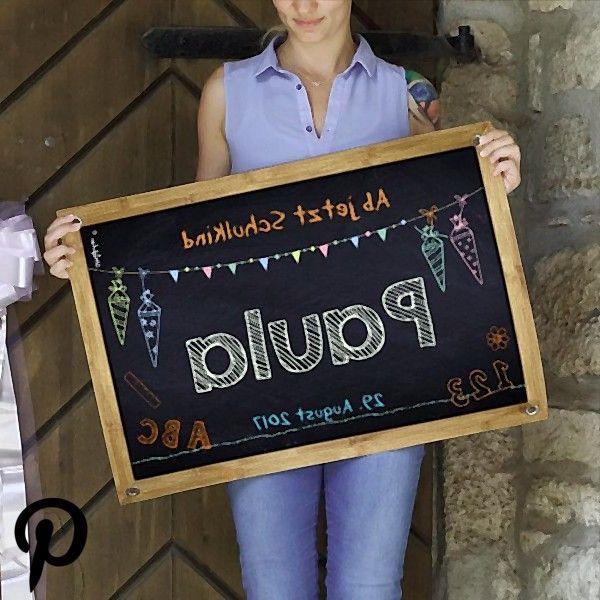 Banner zur Einschulung mit Name und Wunschtext Banner zur Einschulung mit Name und Wunschtext