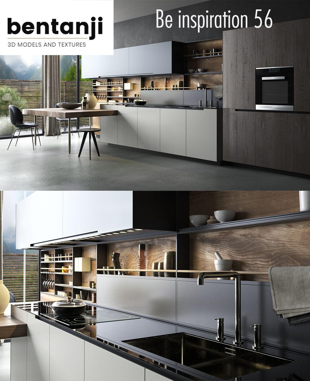 Kitchen virtual set l set 3d | 3d model | $42 92 | Model