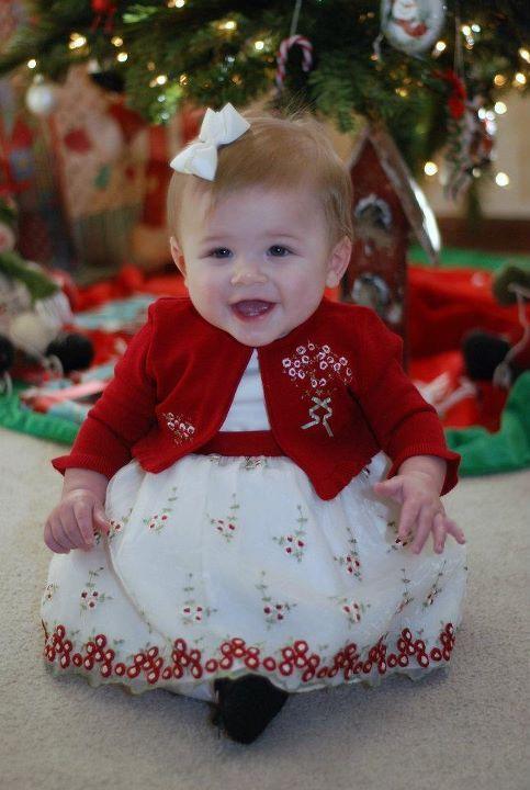 Nine month old Lily | Flower girl, Flower girl dresses ...