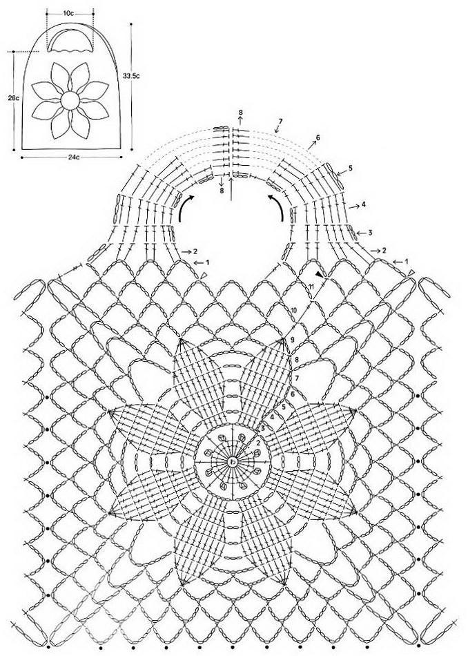 Free-Crochet+Bag+Pattern+6+(1)[1] | tejidos | Pinterest | Bolsos y ...