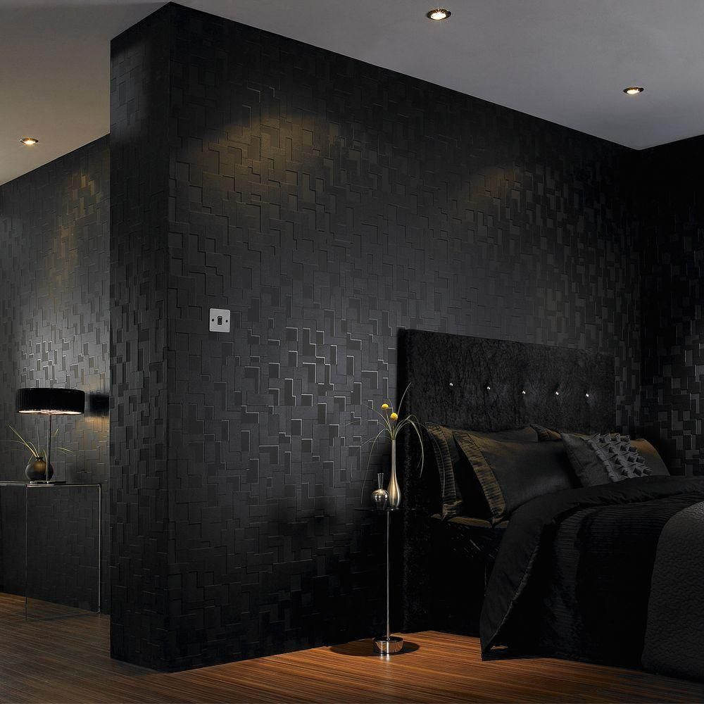 Graham Brown Checker Black Removable Wallpaper Black Wallpaper