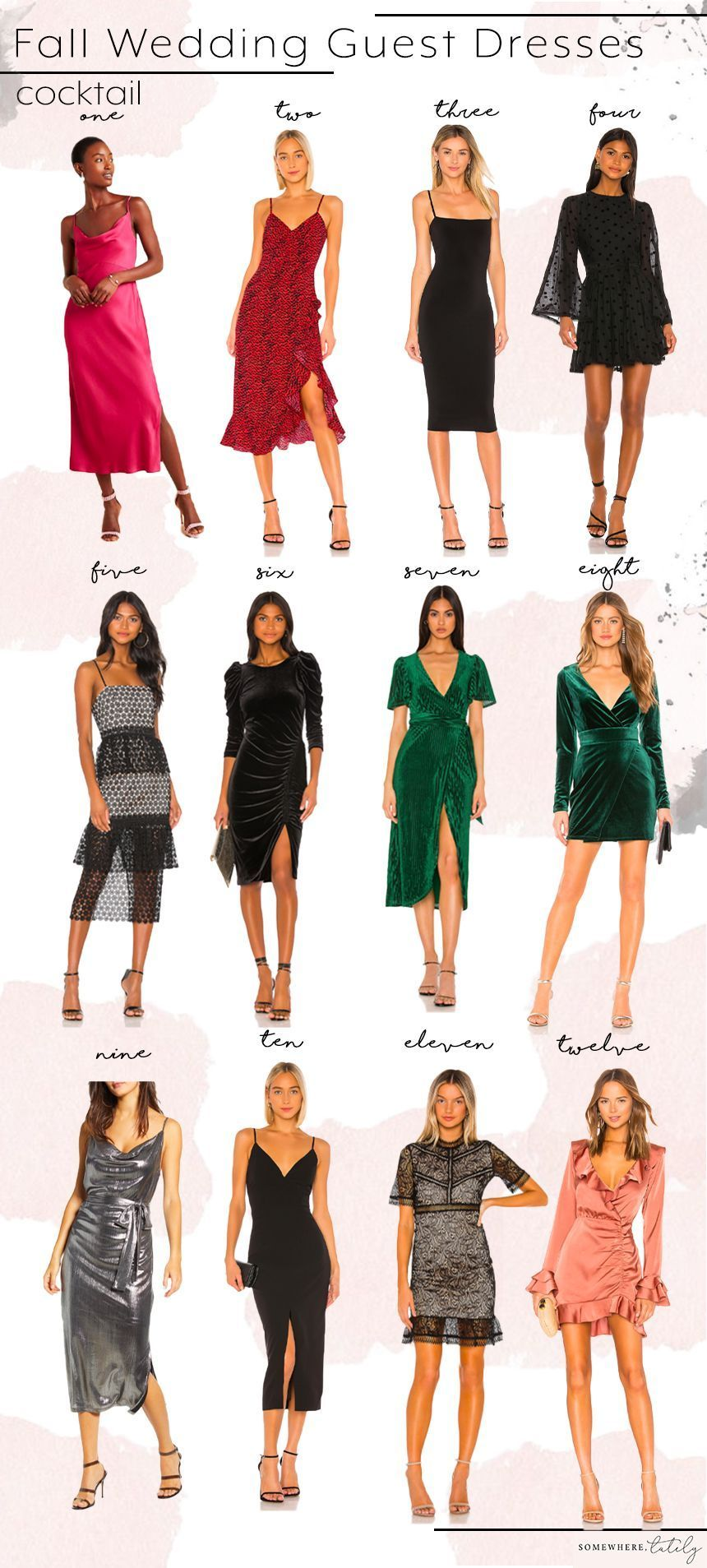 Fall Wedding Guest Dress Roundup Wedding Guest Outfit Fall What To Wear To A Fa In 2020 October Wedding Guest Dress Wedding Guest Outfit Fall Wedding Attire Guest
