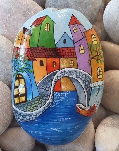 Photo of Best 50 Painted Rock Houses – Images and Ideas for Kids and Adults